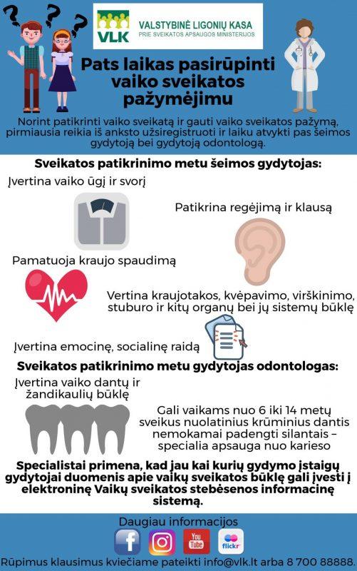 Ligonių kasos: pats laikas pasirūpinti vaiko sveikatos pažymėjimu