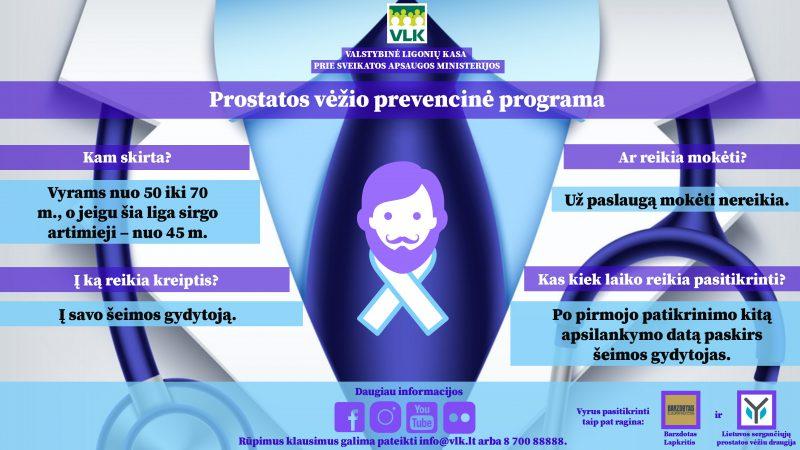 Ligonių kasos: dėl prostatos vėžio pasitikrina tik kas ketvirtas vyras