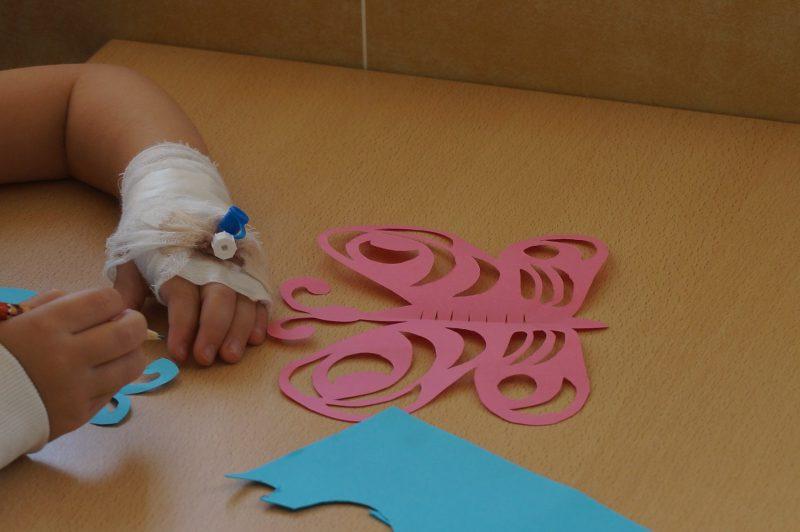 Santariškių ligoninės mažųjų pacientų kasdienybę praskaidrino senųjų amatų mokykla