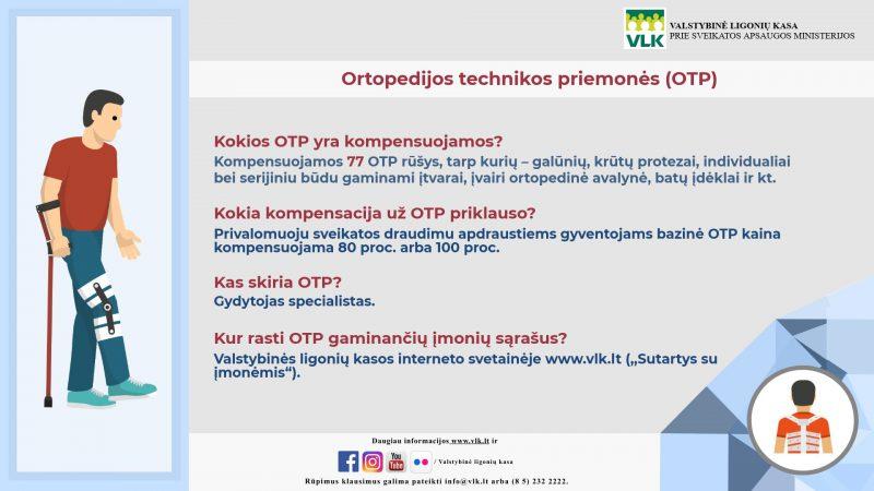 Ortopedijos technikos priemonės: kokių prireikia daugiausia?