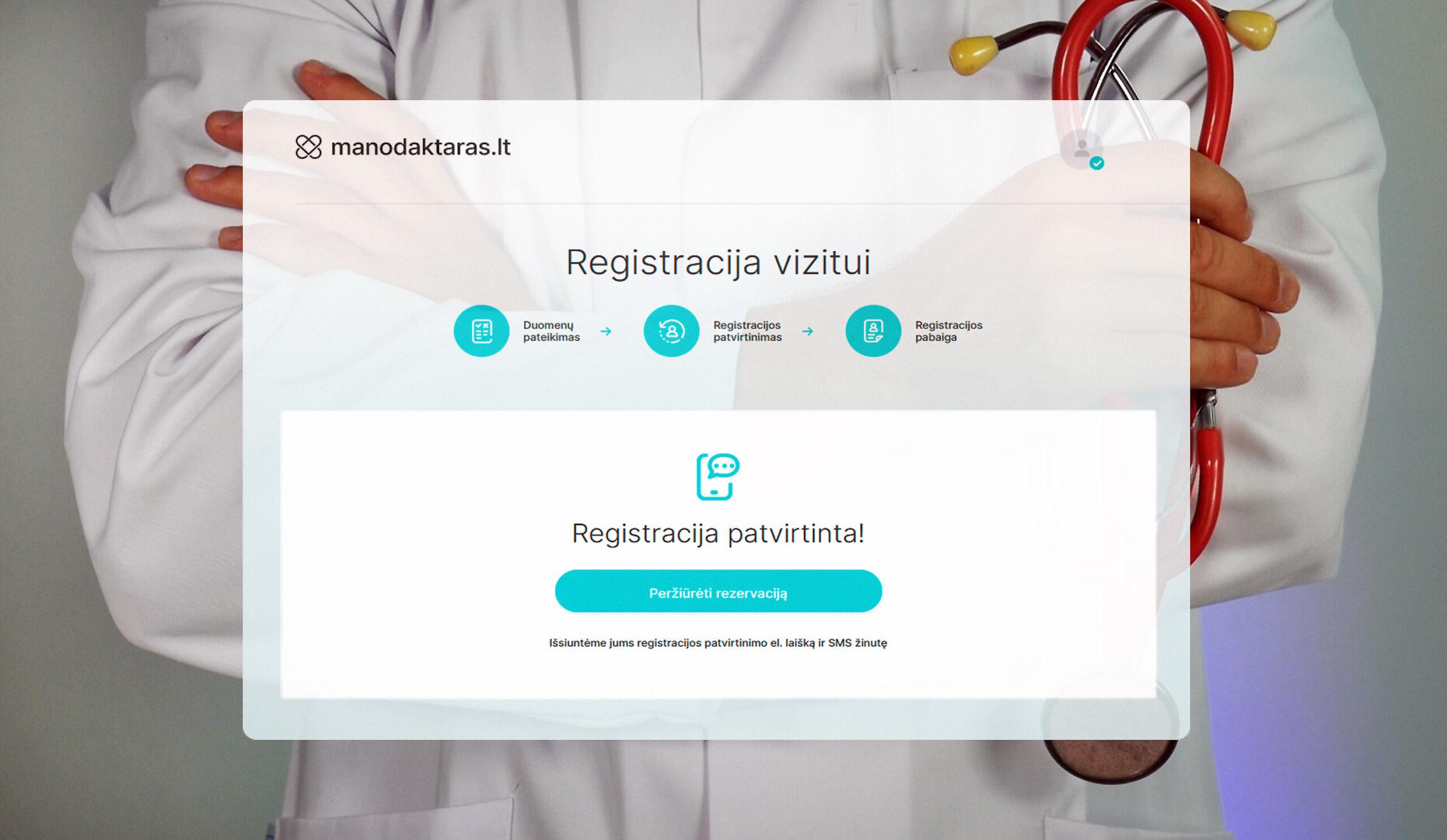 Mano daktaras registracija
